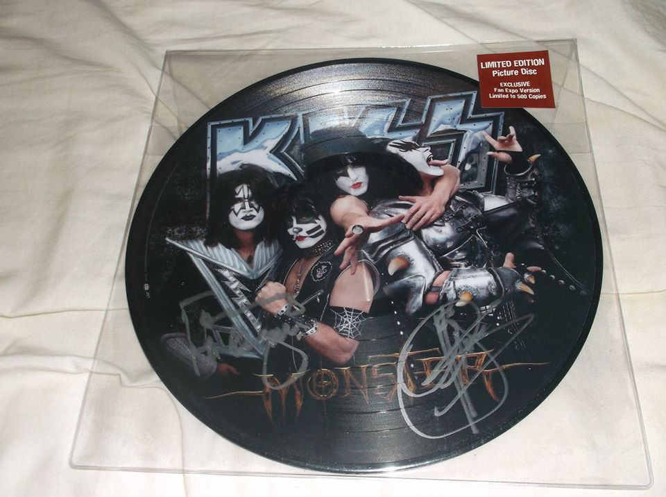"KISS Army Things photo ""Monster picture disc vinyl autographed by Gene Simmons and Tommy Thayer. Probably one of my favorite things I own."""