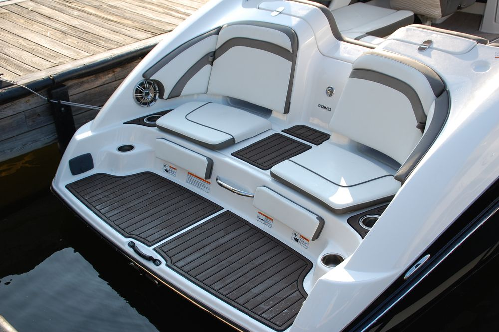 The Stern Seating And Swim Deck On The Yamaha 242 Limited S