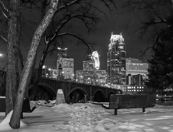 minneapolis mn winter at night - Google Search