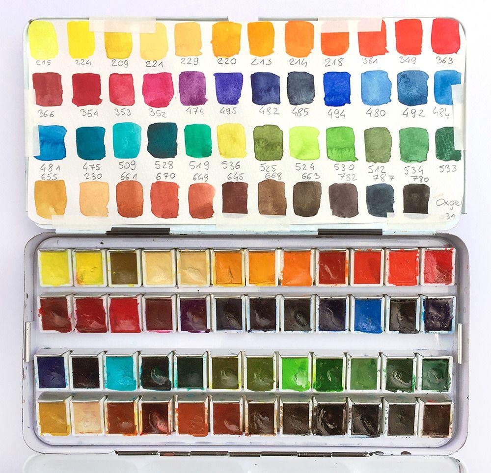 Mateusz Urbanowicz Blog Watercolours Main Set 48 Colours The Set You Watercolor Palette Poster Color Painting Watercolor