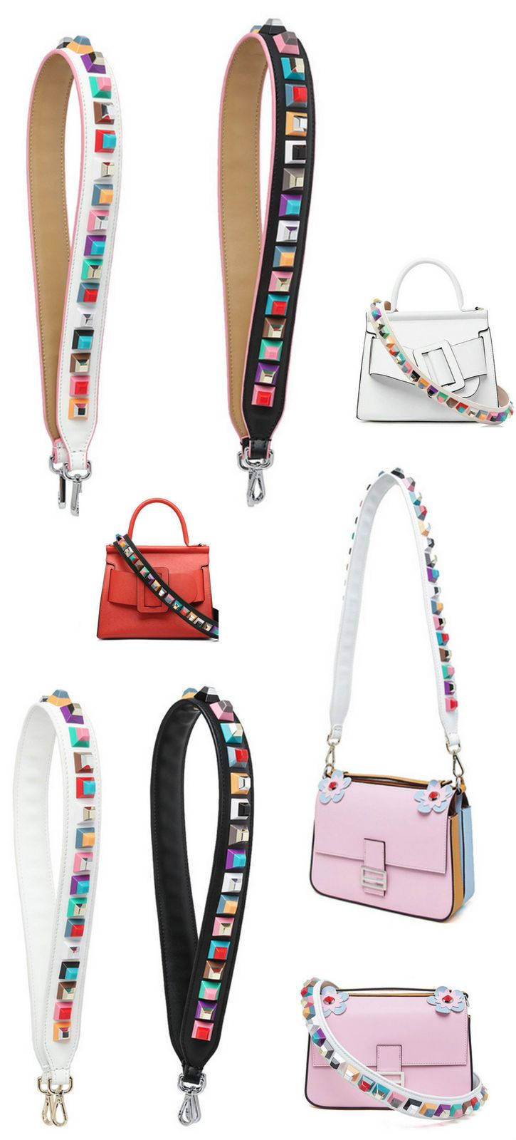 Replacement Shoulder Strap With Carabiner Fashion Bag Charm Handbags Purses