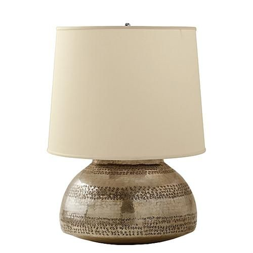 Gentil Hammered Metal Silver Lamp     Yahoo Image Search Results