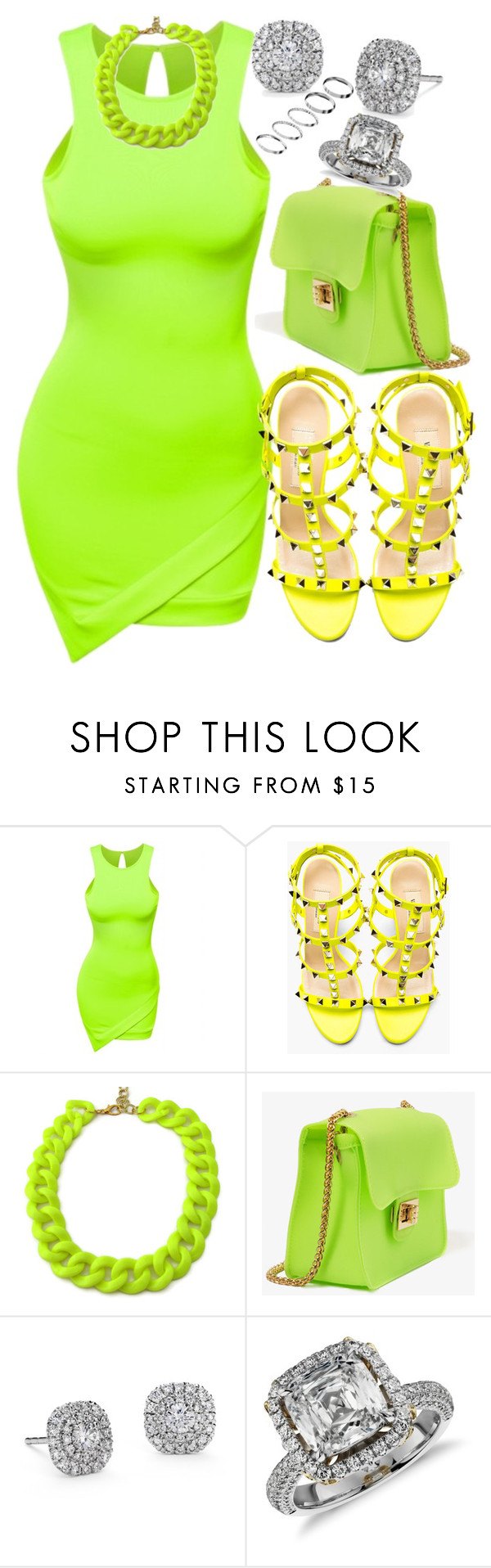 """""""Glow!!"""" by highfashionfiles ❤ liked on Polyvore featuring Doublju, Valentino, Forever 21, Blue Nile and ASOS"""