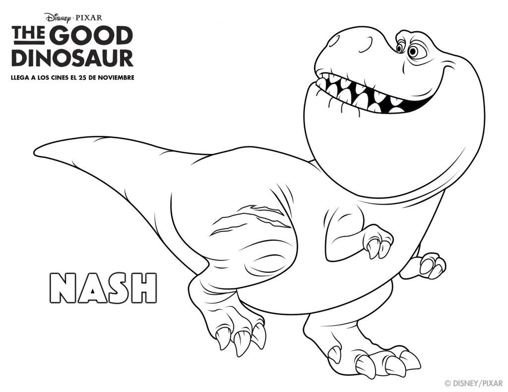 The Good Dinosaur Coloring Pages: Nash | AO\'s | Pinterest | Kid ...
