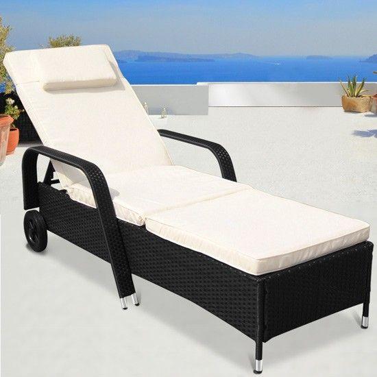 gartenliege rattan schwarz. Black Bedroom Furniture Sets. Home Design Ideas