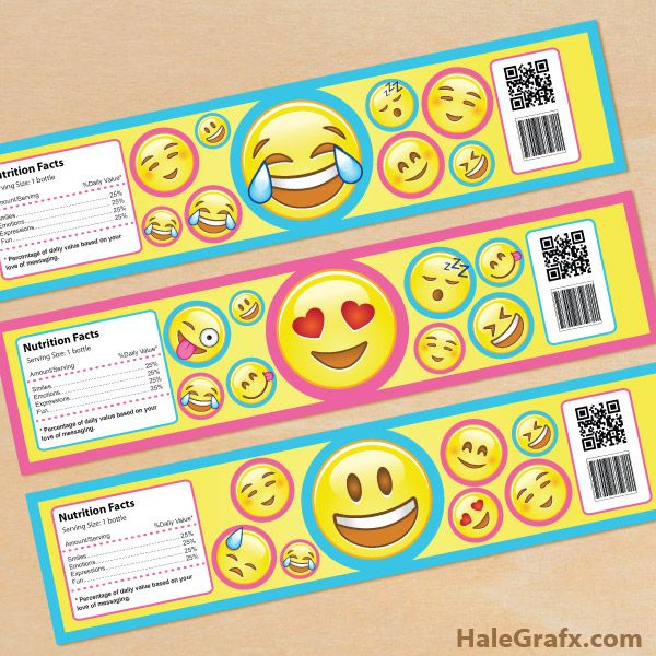 Free Printable Emoji Water Bottle Labels | Emoji Printables
