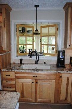 Kitchen Backsplash Hickory Cabinets model kitchen with hickory cabinets and back splash   hickory