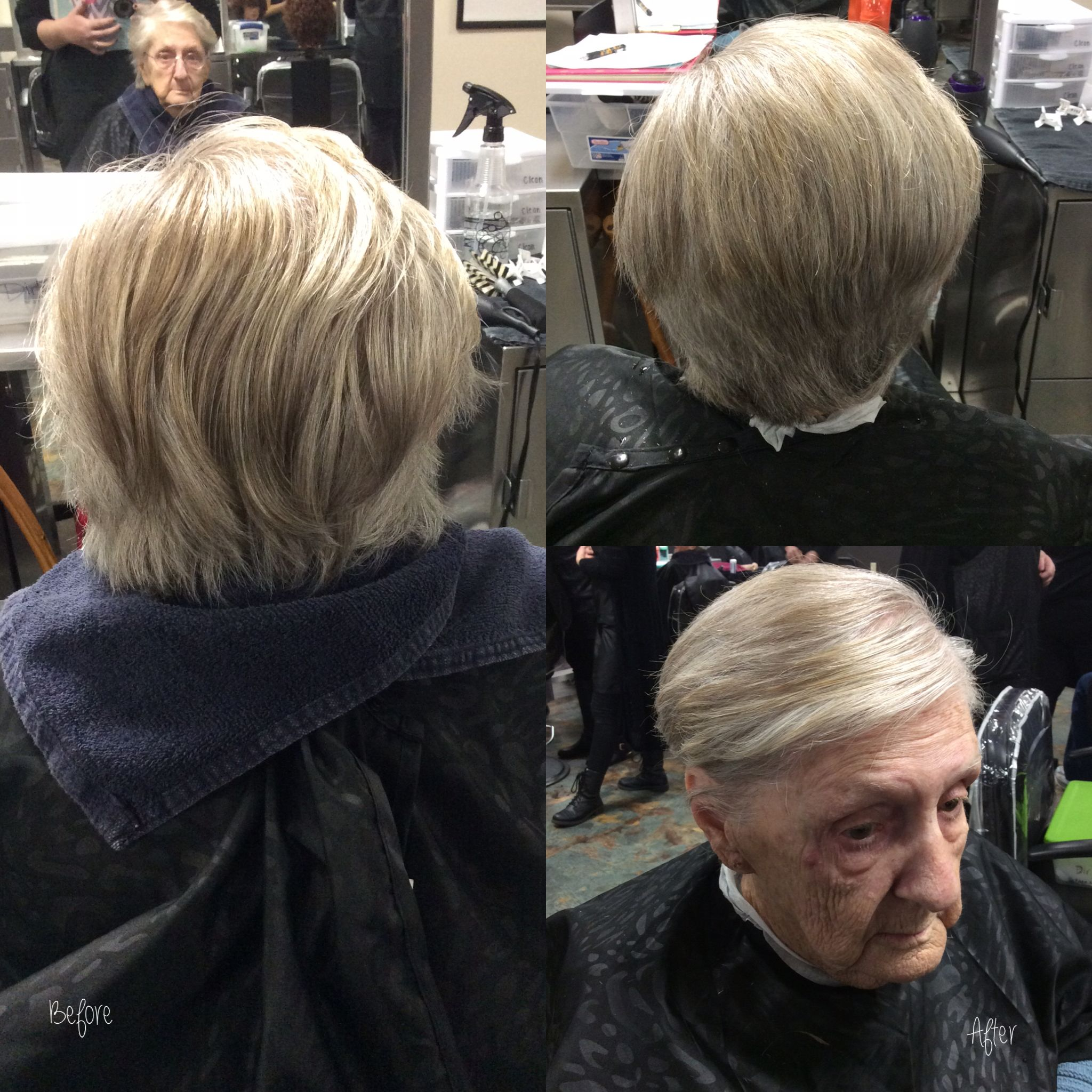 Haircut using 0 & 90 degree with a blow dry style using rugged fix