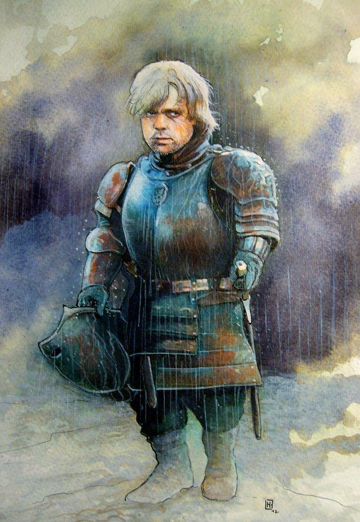 Tyrion Lannister by henanff, via deviantart. Aquarelle.