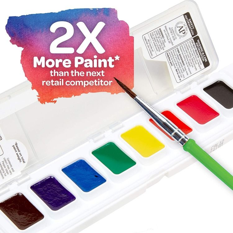 Crayola Washable Watercolors Paint Set For Kids 8count In 2020 Paint Set Painting For Kids Crayola