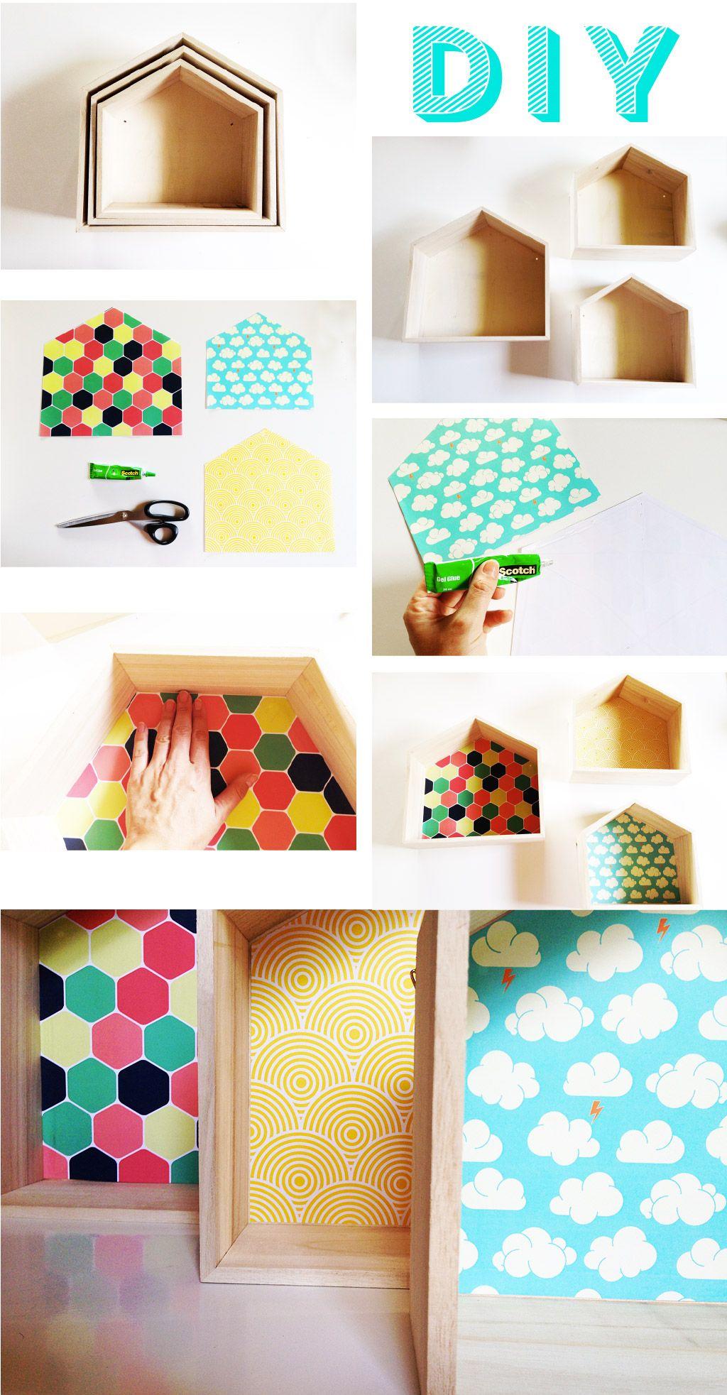 CHAMBRE-ENFANT-KIDROOM-HOME-CABANE-EN-BOIS-DIY-16 | Deco | Pinterest ...