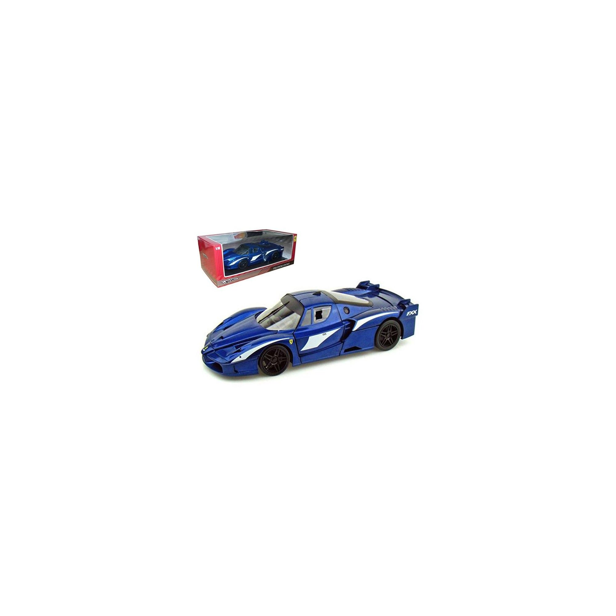Ferrari FXX Evoluzione Blue 1/18 Diecast Car Model by Hotwheels #ferrarifxx