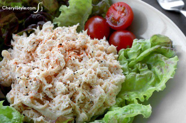 A seasoned chicken salad recipe with mild flavor and versatility!