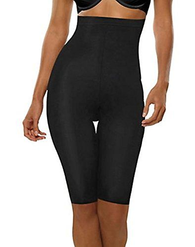 Hanes Plus Size High-waist Thigh Slimmers Shapers Black