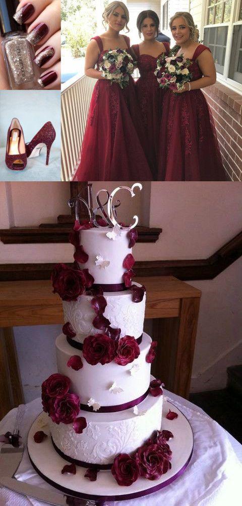 Burgundy Bridesmaid Dress Long Bridesmaid Dresses Wedding
