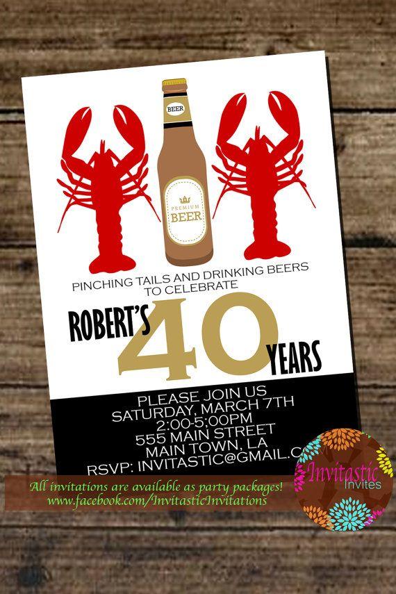 Crawfish Boil Birthday Party Invitation By InvitasticInvites