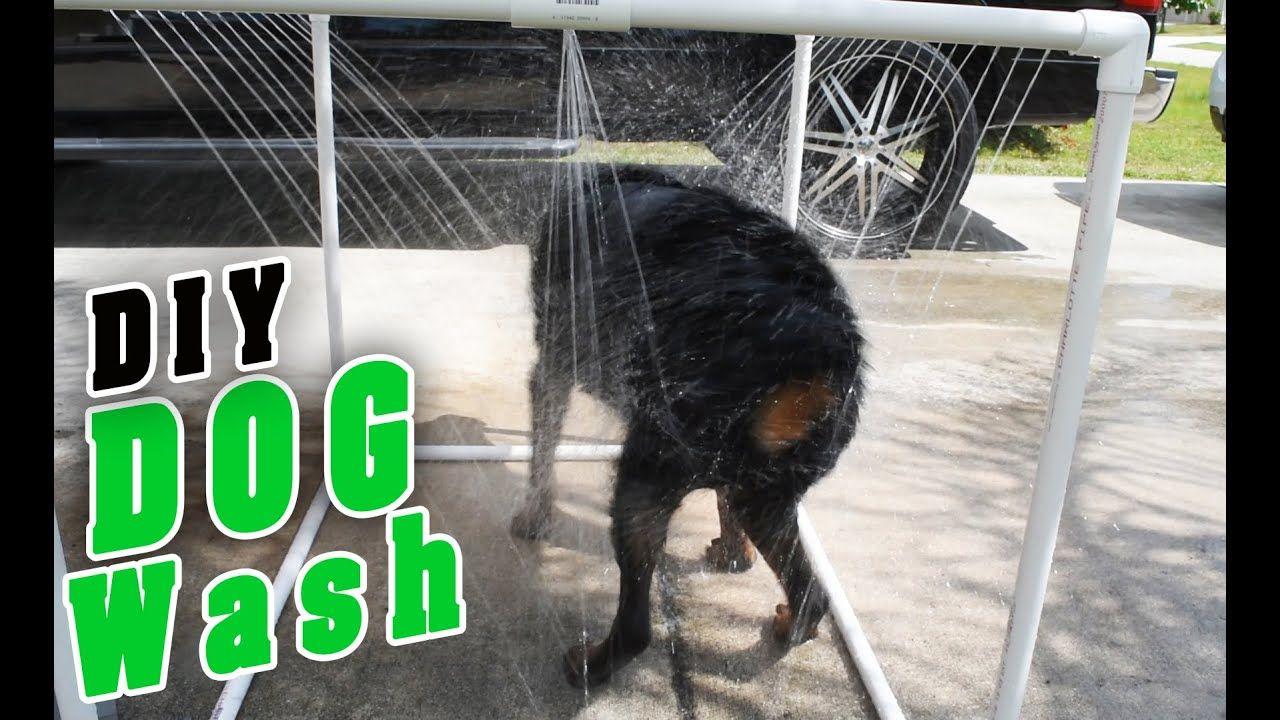 Diy pvc outdoor dog shower dog shower dog wash diy dog