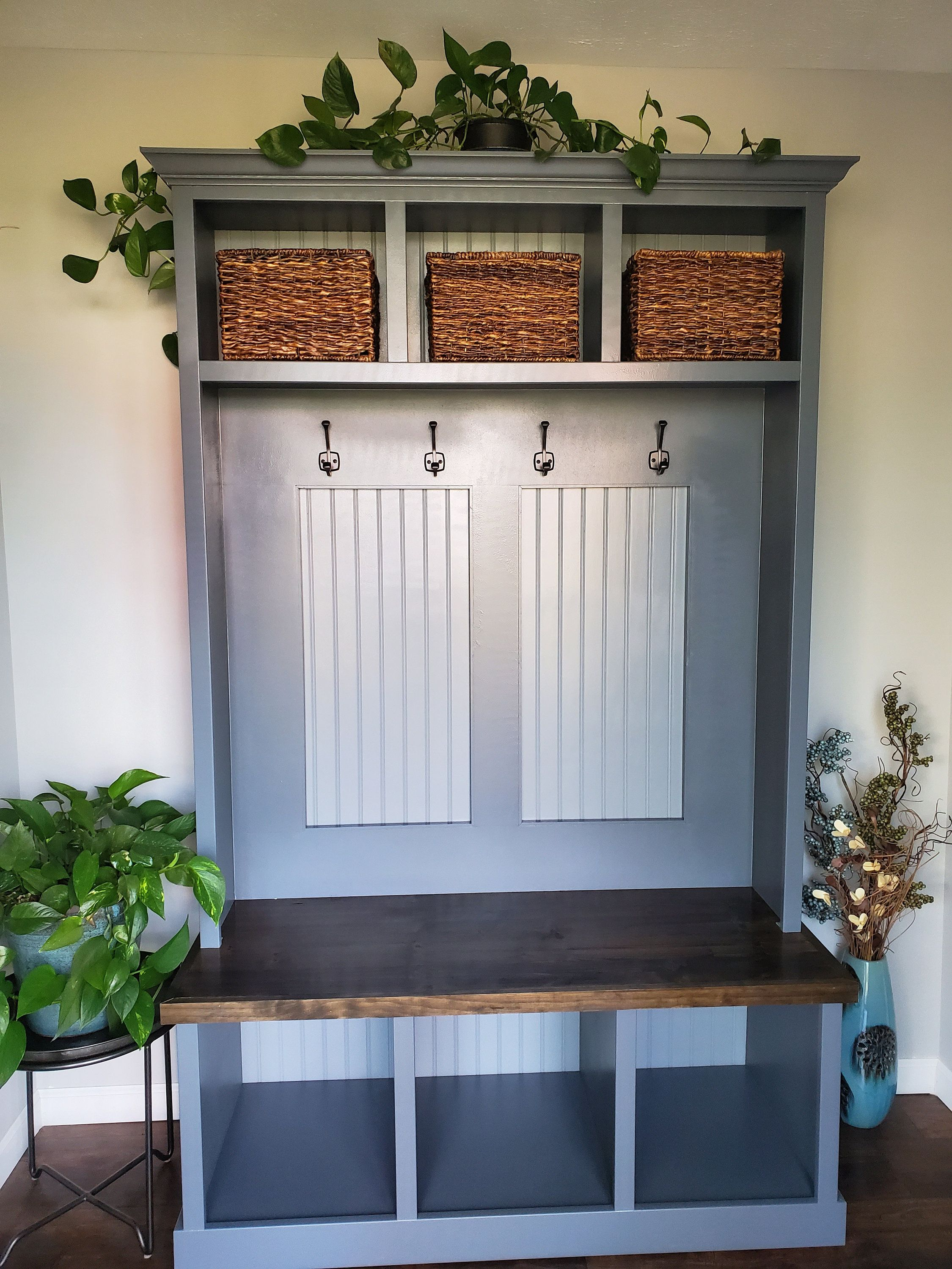 Custom Mudroom Storage/ Coat Rack With Bench And Storage/HallTree/Mudroom Locker