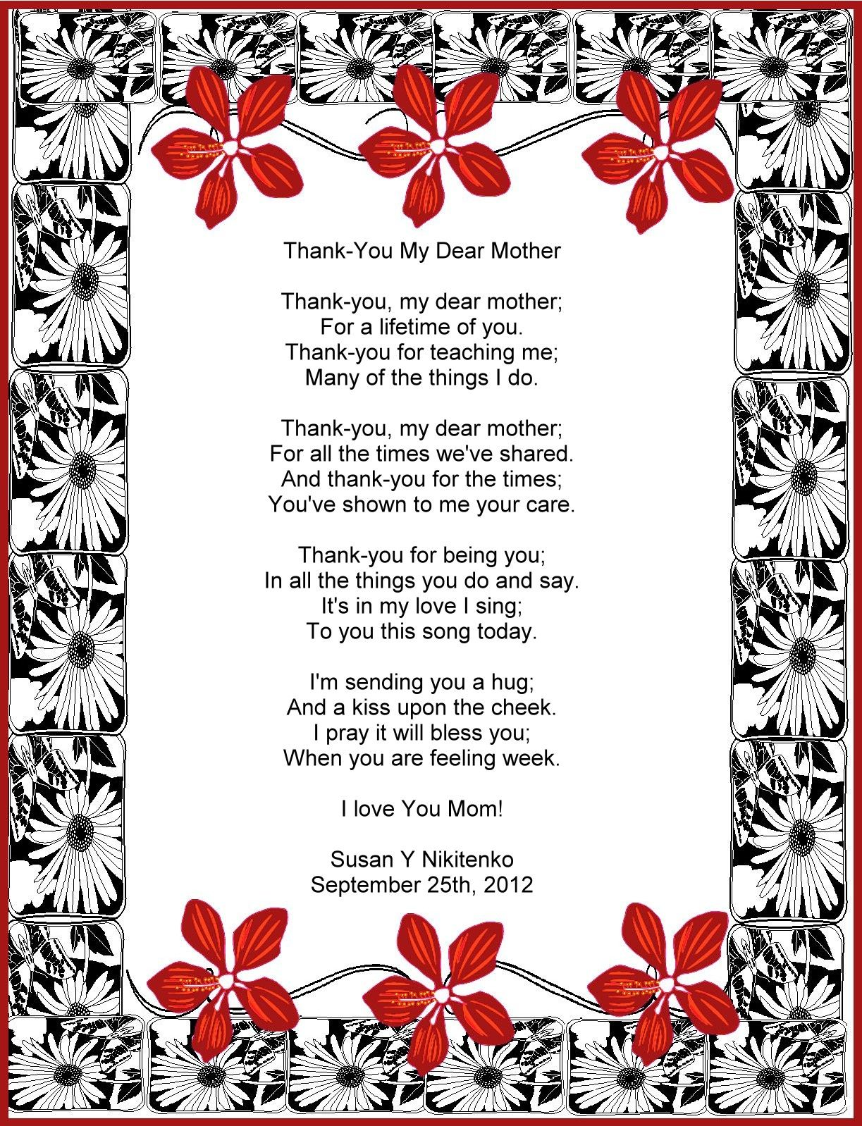 letter to a mother from daughter on wedding day Treasure