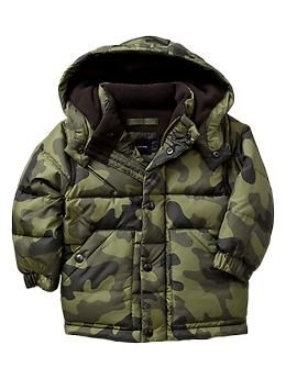368581924 Warmest camo puffer jacket - Down fill for extra warmth and ...
