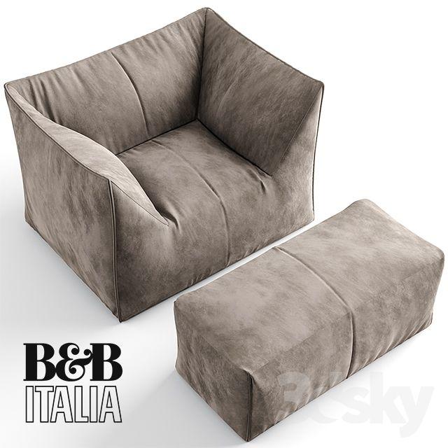 3d Models Arm Chair B B Italia Le Bambole Armchair Lounge Seating Armchair Design Sofa Design
