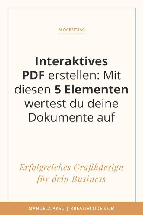 Interaktives PDF erstellen: Mit diesen 5 Elementen wertest du deine ...