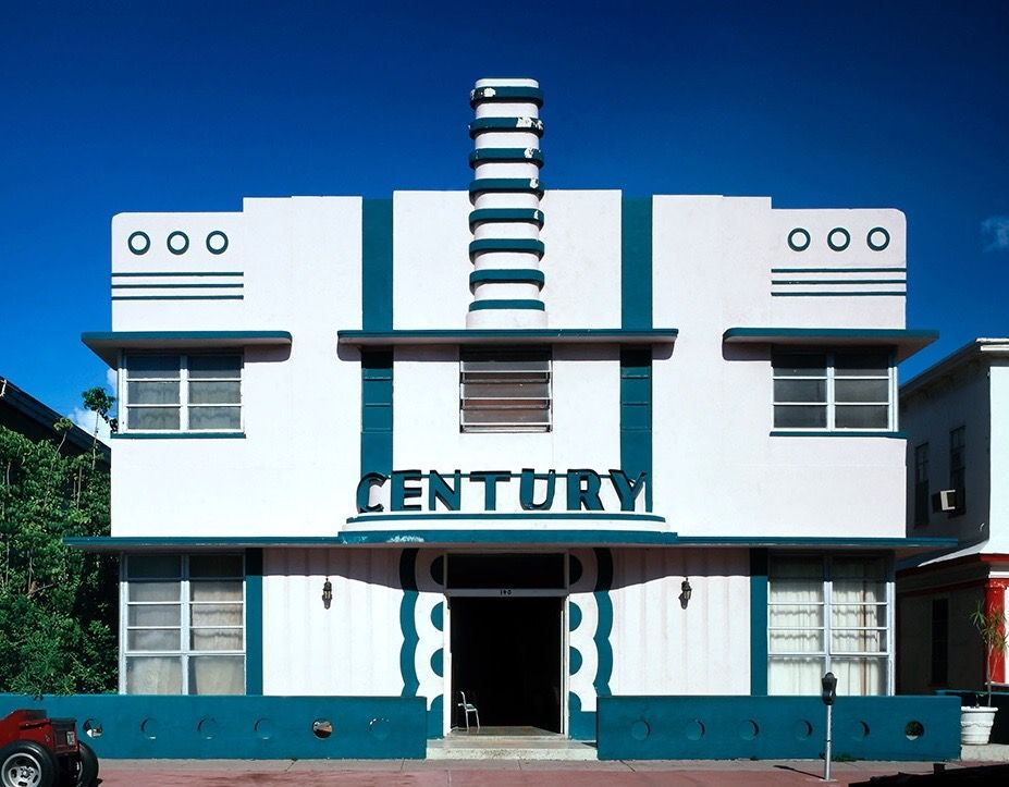 Florida Century Hotel An Art Deco Building In The Miami District Historic Located South Beach Neighbourhood Of