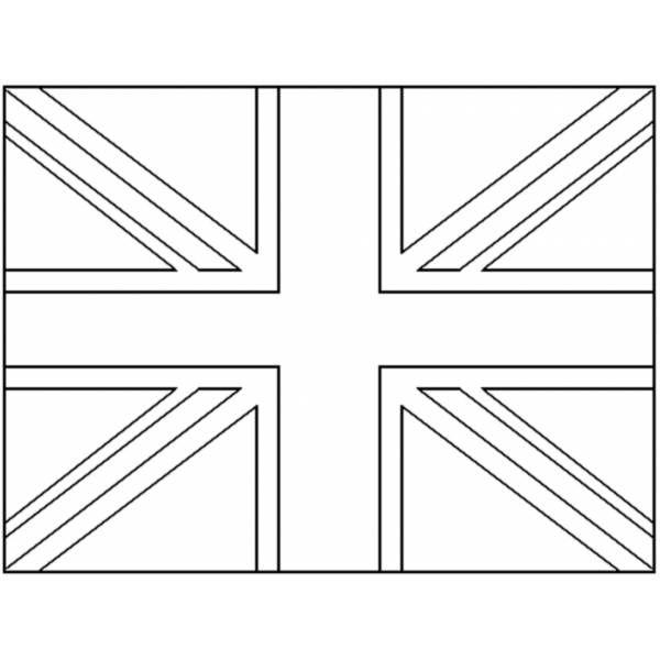 Disegno Di Bandiera Del Regno Unito Da Colorare Scuola Franca Cards