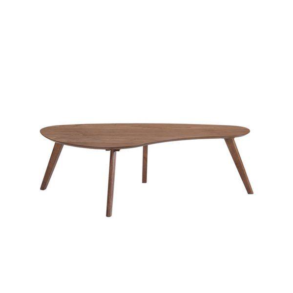 Amalia Cocktail Table Solid Wood Coffee Table Table Oval