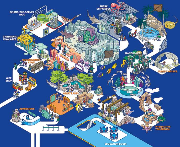 Sea Life Michigan Aquarium Map Eye Candy Pinterest Spring