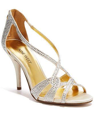 Nine West Asvelia Mid Heel Evening Sandals Bridal Shoes Macy S