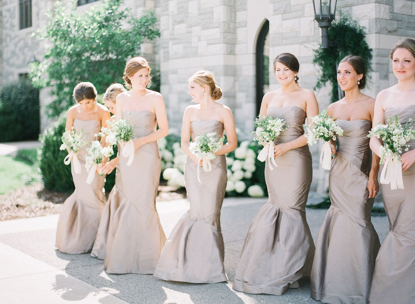 Champagne color bridesmaid dresses, Covenant Presbyterian Church ...
