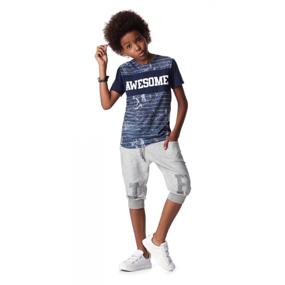 44b17a60a Bermuda de Moletom Infantil Leve com Ribana - Johnny Fox - Cia Infantil -  ciainfantil.com.br