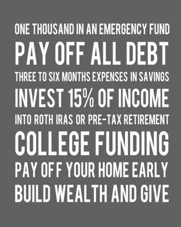 Dave Ramsey plan in a nutshell Great plan Iu0027m going to follow - retirement programs