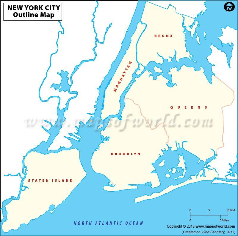 Blankmapofnewyorkcityjpg Maps Pinterest City - New york city usa map