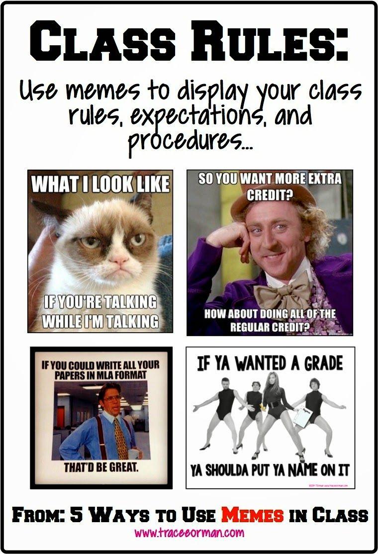 Meme Ideas For School : ideas, school, Memes, Connect, Students, Classroom, Memes,, Teacher, Rules