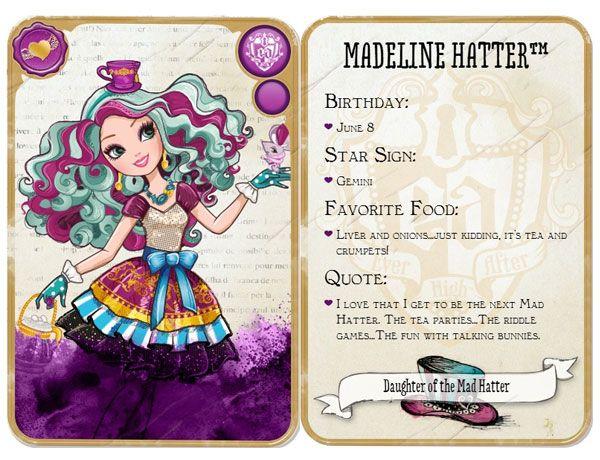 Ever After High Madeline Hatter Daughter of the Mad Hatter