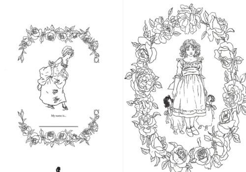 My Girl Coloring Book By Kate Greenaway For Adult Anti Stress Art ...