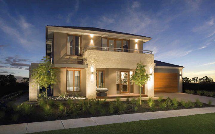 Simple Modern House modern house facade design with simple small garden ideas | my