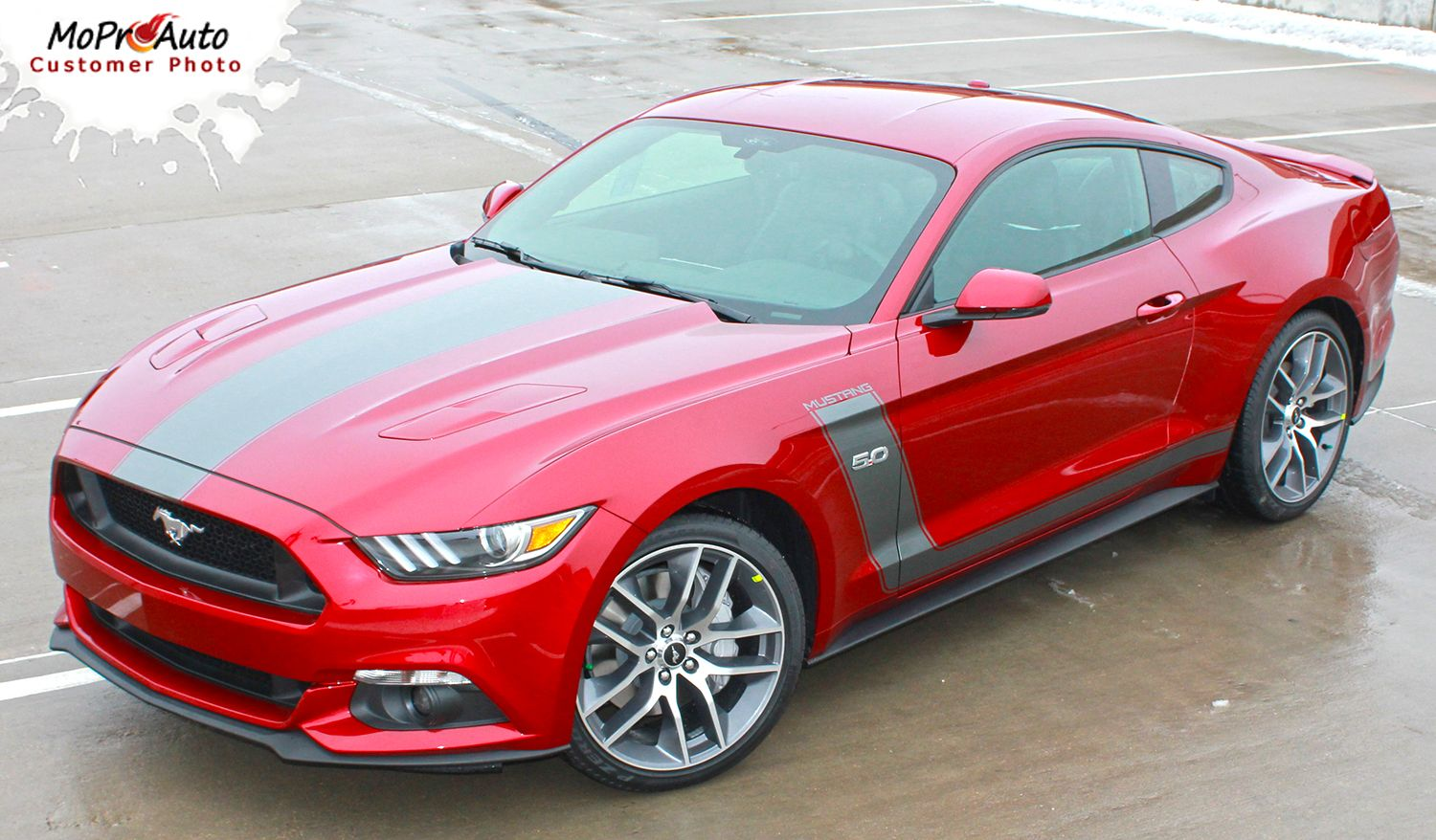 """STELLAR 2015 Ford Mustang """"BOSS"""" Style Hood and Side"""