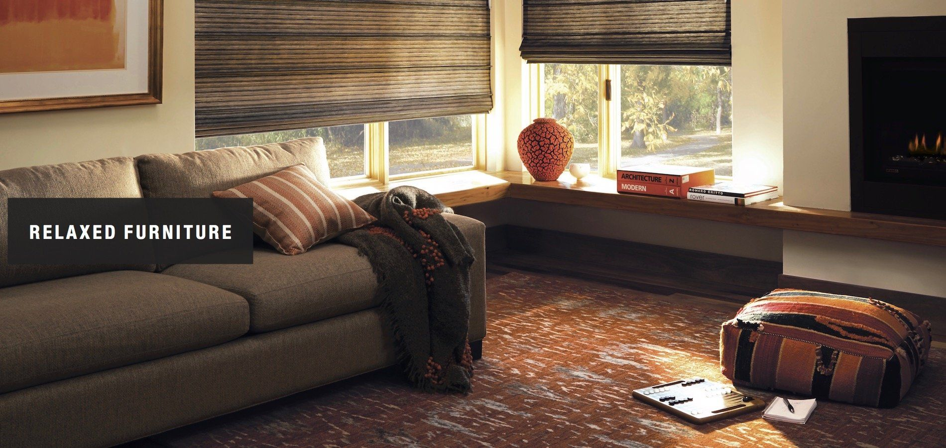 Window coverings ideas  relaxed furniture can help you slow down  ideas from peninsula