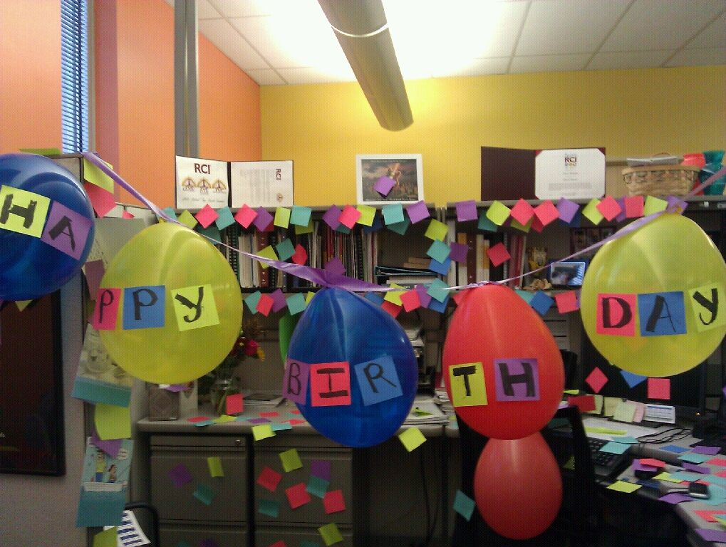 cool yet annoying way to decorate a office for a birthday birthday rh pinterest com how to decorate an office for a 40th birthday how to decorate an office for a 40th birthday