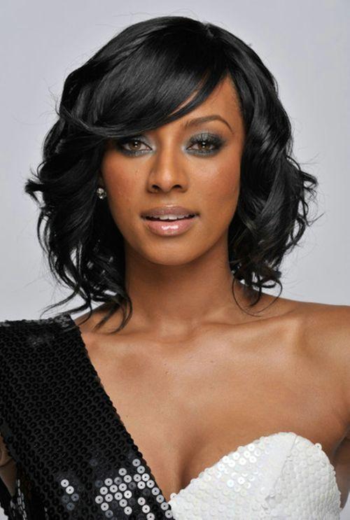 Short Weave Hairstyles Africa American Wavy Hairstyles Pinterest