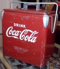 VINTAGE Not Repro 1950s Coca Cola Picnic Cooler
