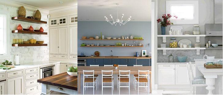 etagere murale cuisine id es d 39 utilisation d 39 tag res ouvertes sur une cuisine agencemt. Black Bedroom Furniture Sets. Home Design Ideas