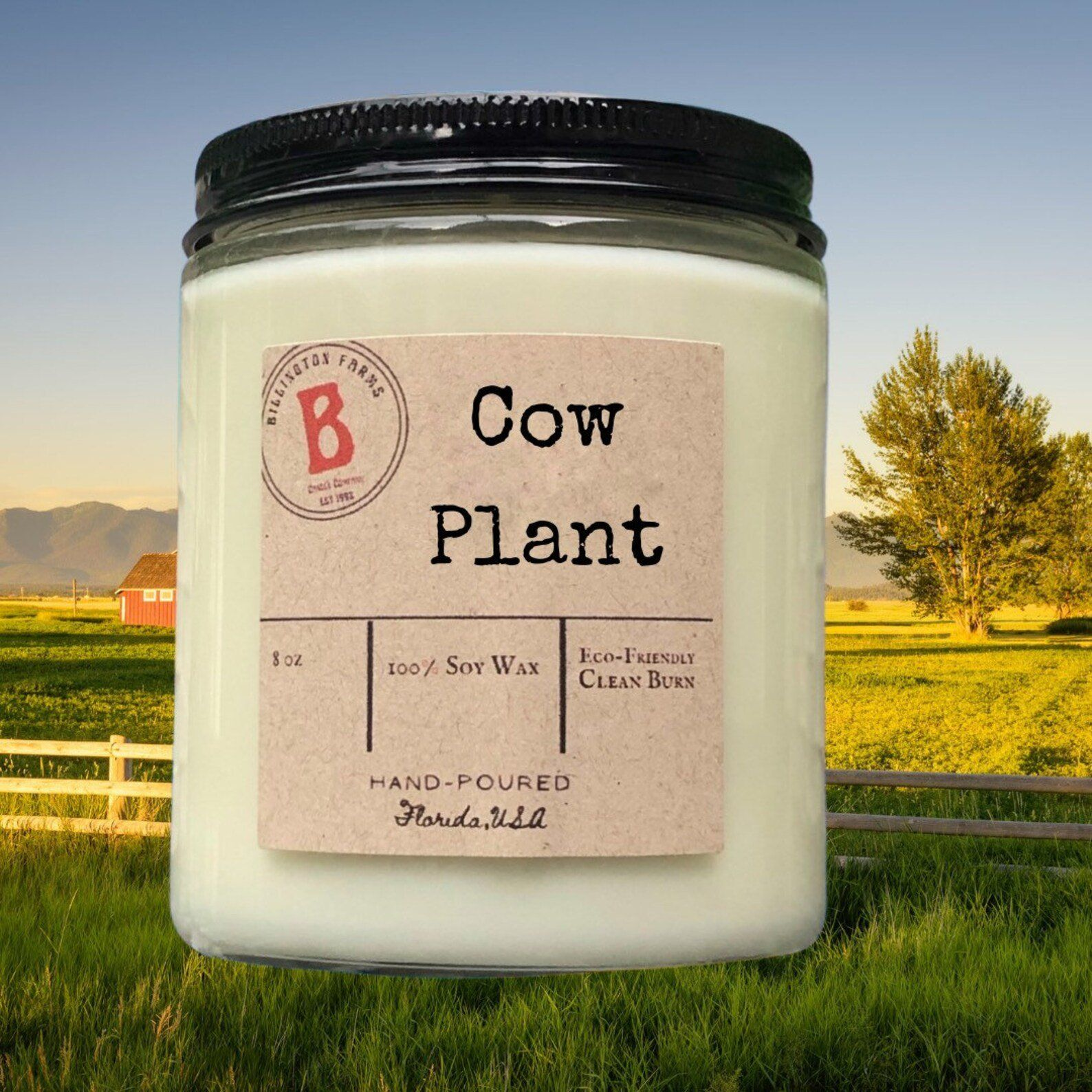 Cow Plant | Sims 4 Inspired | 100% Soy Wax Candles | Hand Poured