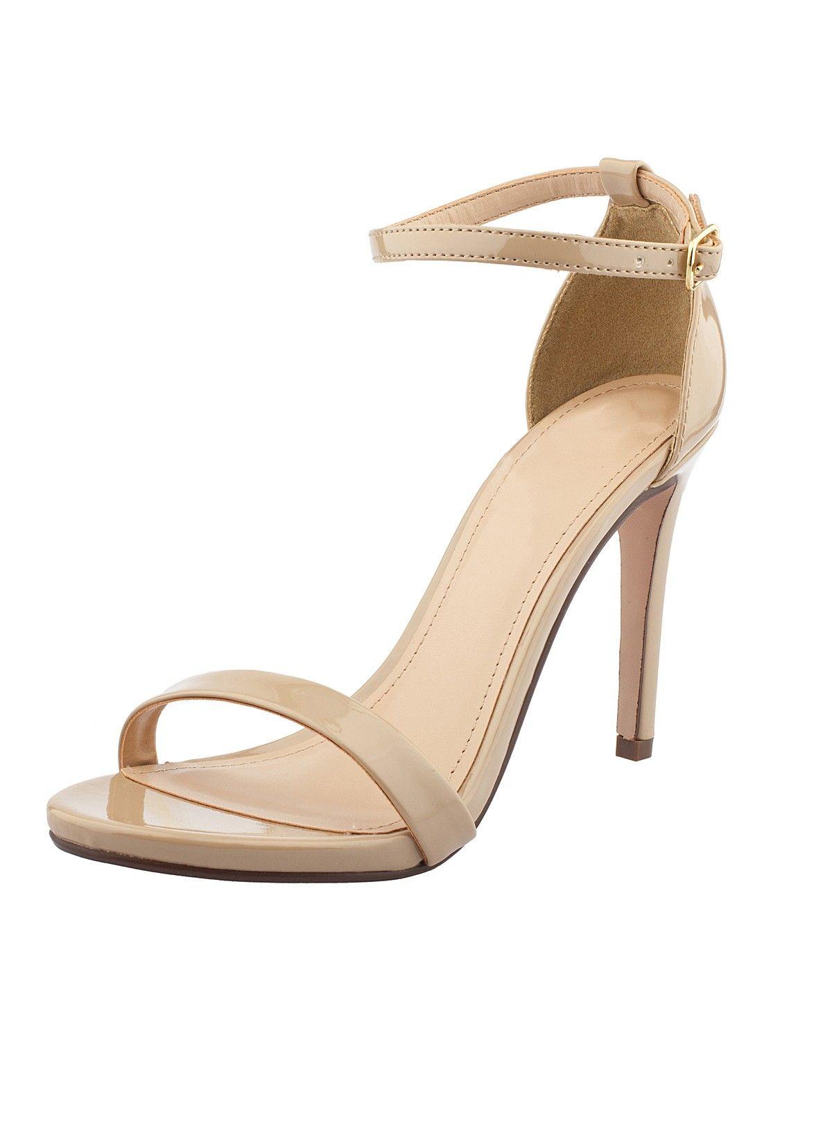0b7ce2dd1199 Shop Prima Donna - Montenegro Ankle Strap Sandals Dark Beige Patent at Prima  donna