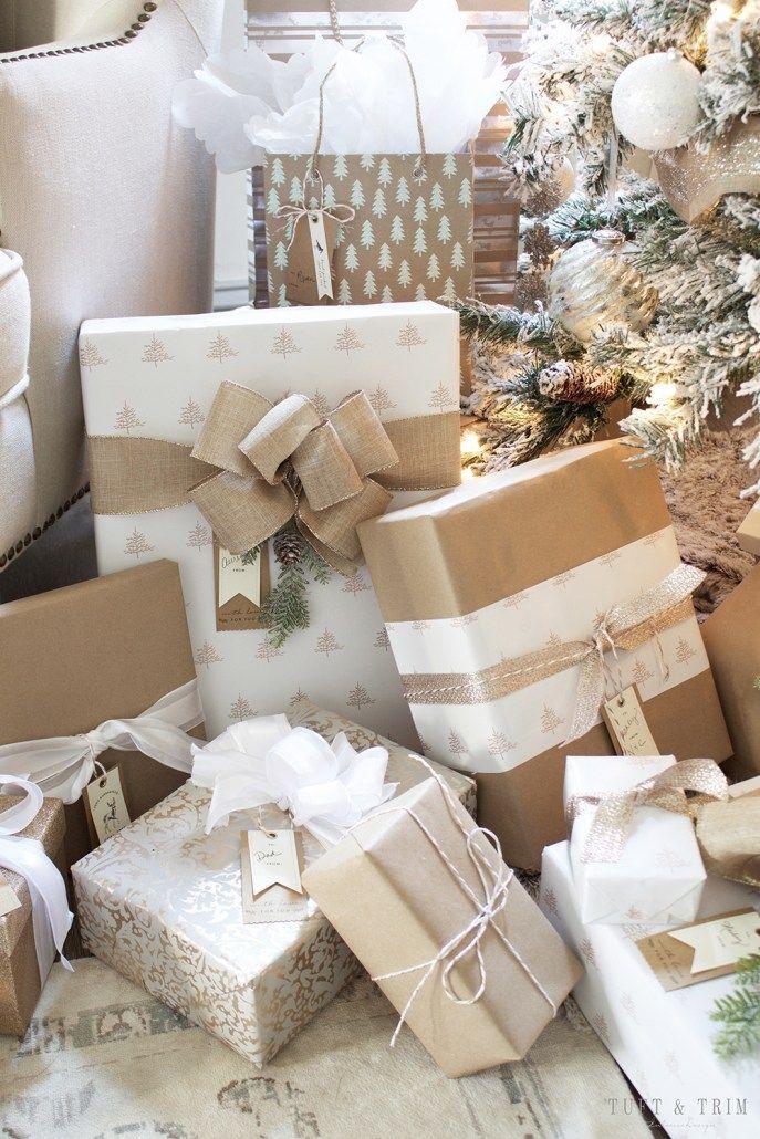 Weiße Weihnachtsdekorationsideen #xmastreedecoratingideas