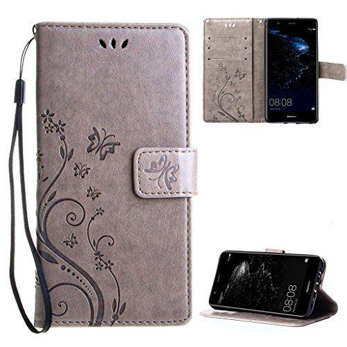 f48318e2c22 nice Funda Huawei P10 Lite Cover Gris , Leathlux Libro Suave PU Leather Cuero  impresión -