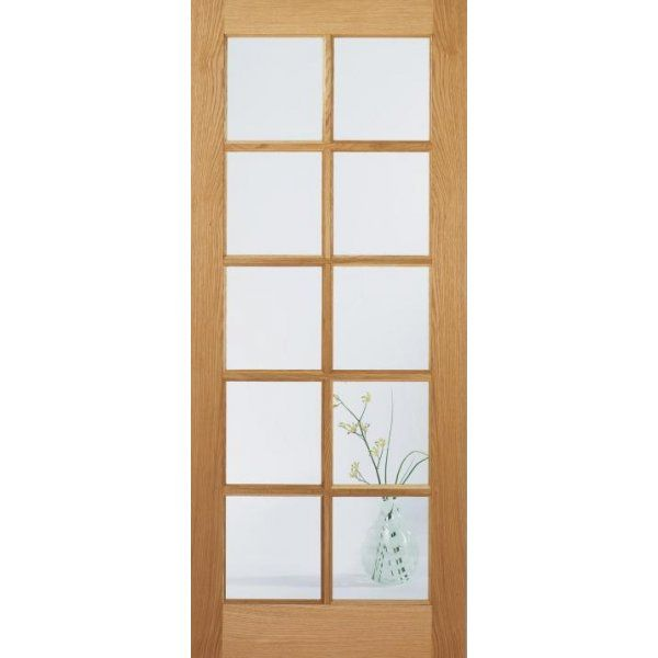£125 x 2 LPD Doors Internal Oak SA 10 Light Door with Clear Glass  sc 1 st  Pinterest & 125 x 2 LPD Doors Internal Oak SA 10 Light Door with Clear Glass ...